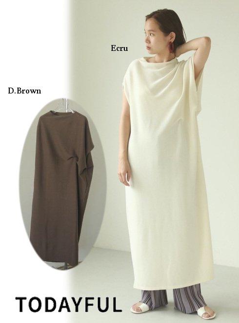 TODAYFUL (トゥデイフル)<br>Asymmetry Rough Dress  21春夏予約【12110312】マキシワンピース 入荷予定 : 3月中旬〜  春受注会