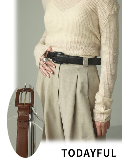 TODAYFUL (トゥデイフル)<br>Leather Backle Belt  21春夏【12111014】その他   春受注会