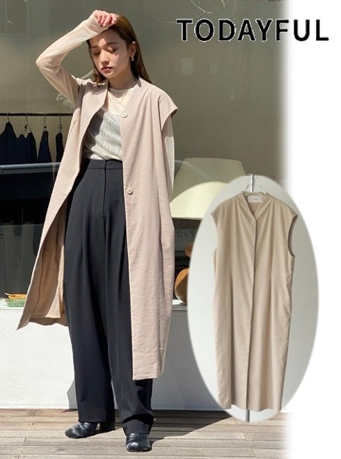 TODAYFUL (トゥデイフル)<br>Dobby Linen Vest  21春夏予約【12110102】ベスト 入荷予定 : 3月中旬〜  春受注会