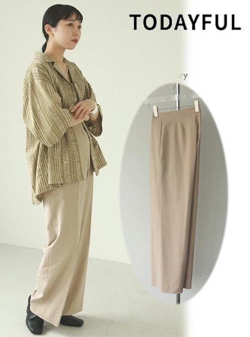 TODAYFUL (トゥデイフル)<br>Dobby Linen Trousers  21春夏予約【12110701】パンツ 入荷予定 : 3月中旬〜  春受注会