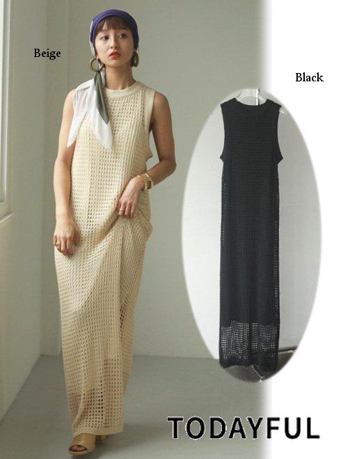 TODAYFUL (トゥデイフル)<br>Mesh Knit Dress  21春夏予約【12110303】マキシワンピース 入荷予定 : 3月中旬〜  春受注会