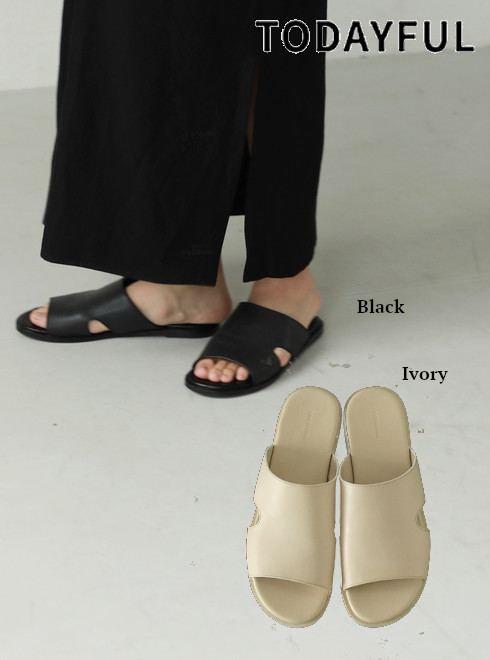TODAYFUL (トゥデイフル)<br>Leather Slide Sandals  21春夏予約【12111015】サンダル 入荷予定 : 3月中旬〜  春受注会