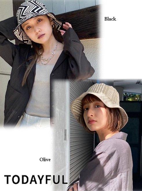 TODAYFUL (トゥデイフル)<br>Pattern Bucket Hat  21春夏【12111030】帽子