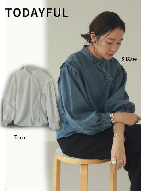 TODAYFUL (トゥデイフル)<br>Cotton Asymmetry Shirts  21春夏予約【12110402】シャツ・ブラウス 入荷予定 : 3月中旬〜  春受注会