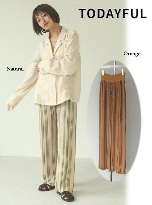 TODAYFUL (トゥデイフル)<br>'Stripe Knit Leggings' 21春夏予約2 【12110706】パンツ   NRL:8月