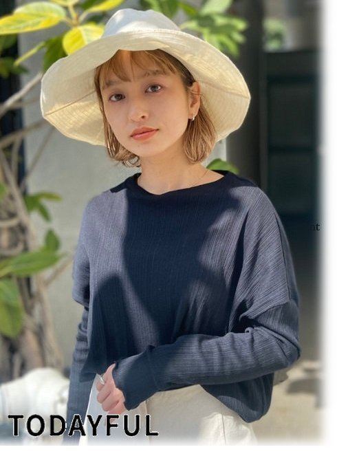 TODAYFUL (トゥデイフル)<br>Paraffin Bucket Hat  21春夏予約【12111028】帽子 入荷予定 : 3月中旬〜  春受注会