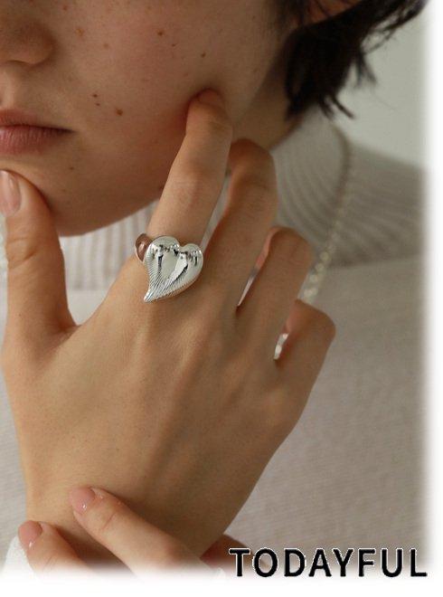 TODAYFUL (トゥデイフル)<br>Heart Ring  21春夏予約【12110911】リング 入荷予定 : 3月中旬〜  春受注会