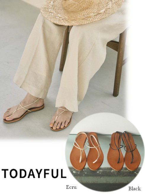 TODAYFUL (トゥデイフル)<br>Leather Tong Sandals  21春夏予約【12111020】サンダル 入荷予定 : 6月中旬〜  春受注会