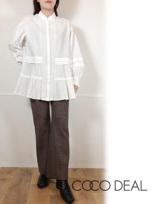 COCODEAL (ココディール)<br>ニットジャガードフレアパンツ  21春夏【71136052】パンツ
