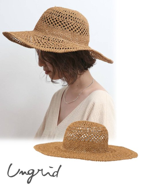 Ungrid (アングリッド)<br>透かし編みHAT  21春夏【112121018001】帽子