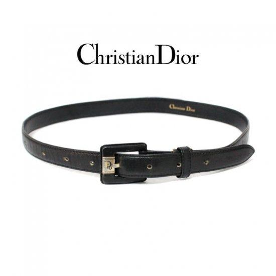 Dior ディオール ヴィンテージ<br>レザーベルト 【vintage by RiLish】 ランクBA
