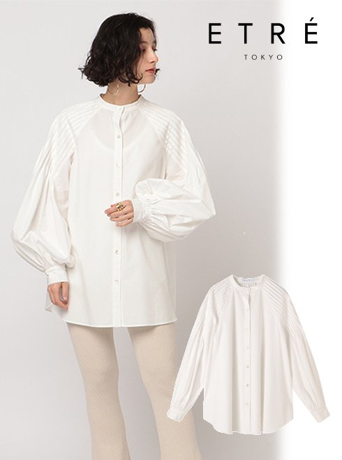 ETRE TOKYO (エトレトウキョウ)<br>デザインタックボリュームシャツ  21春夏【1221110069】シャツ・ブラウス