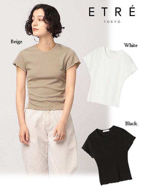 ETRE TOKYO (エトレトウキョウ)<br>ソフトリブコンパクトTee  21春夏【1221212062】Tシャツ