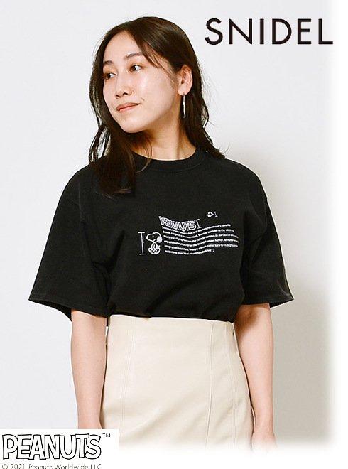 snidel (スナイデル)<br>SNOOPYコラボTシャツ  21春夏【SWCT211103】Tシャツ  21gw