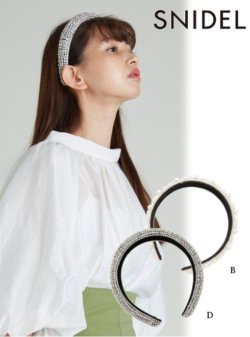 snidel (スナイデル)<br>バリエカチューシャ  21春夏【SWGG211675】ヘアアクセサリー