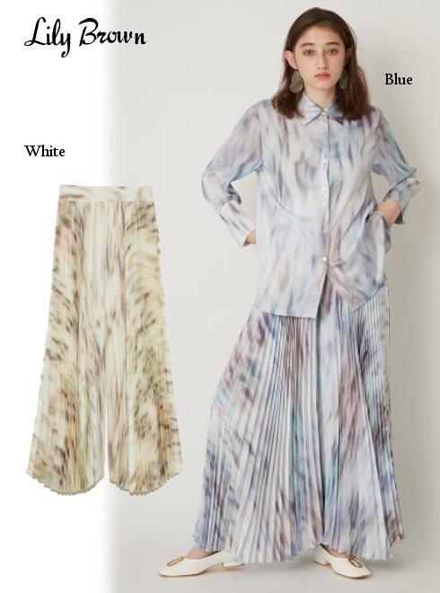Lily Brown (リリーブラウン)<br>tabbypatternプリーツパンツ  21春夏【LWFP211050】パンツ