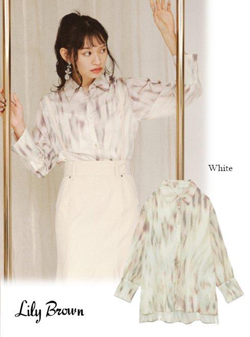 Lily Brown (リリーブラウン)<br>tabbypatternシャツ  21春夏予約【LWFT211049】シャツ・ブラウス 入荷予定 : 3月中旬〜