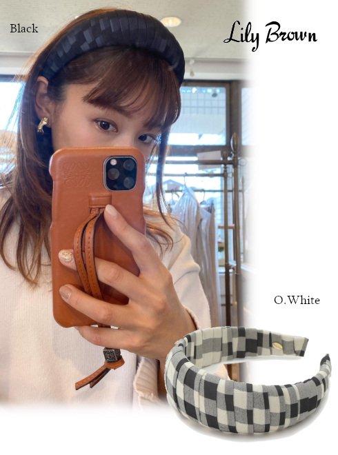 Lily Brown (リリーブラウン)<br>ギンガムチェックカチューシャ  21春夏【LWGG211350】ヘアアクセサリー