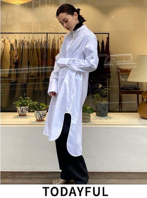 TODAYFUL (トゥデイフル)<br>Standcollar Shirts Dress  21春夏.予約【12110331】フレアワンピース 入荷予定 : 4月中旬〜