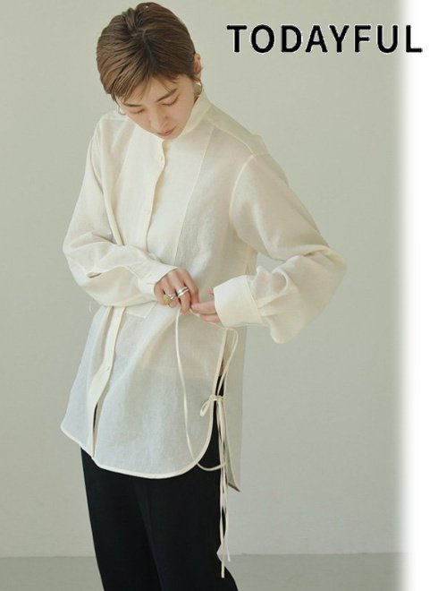 TODAYFUL (トゥデイフル)<br>Slub Dress Shirts  21春夏.2【12110405】シャツ・ブラウス  21gw