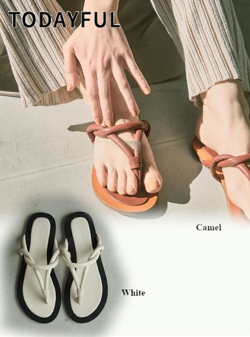 TODAYFUL (トゥデイフル)<br>Tong Slide Sandals  21春夏.【12111051】サンダル