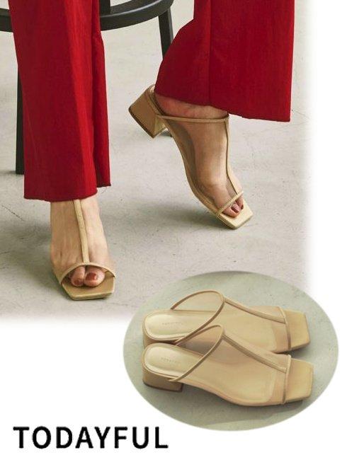 TODAYFUL (トゥデイフル)<br>Sheer Piping Sandals  21春夏.予約【12111038】サンダル 入荷予定 : 4月中旬〜