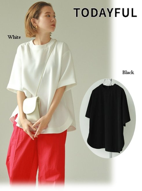 TODAYFUL (トゥデイフル)<br>Halfsleeve Georgette Tops  2021春夏.【12110420】カットソー