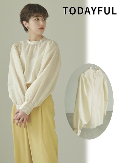 TODAYFUL (トゥデイフル)<br>Embroidery Puff Blouse  2021春夏.【12110426】シャツ・ブラウス