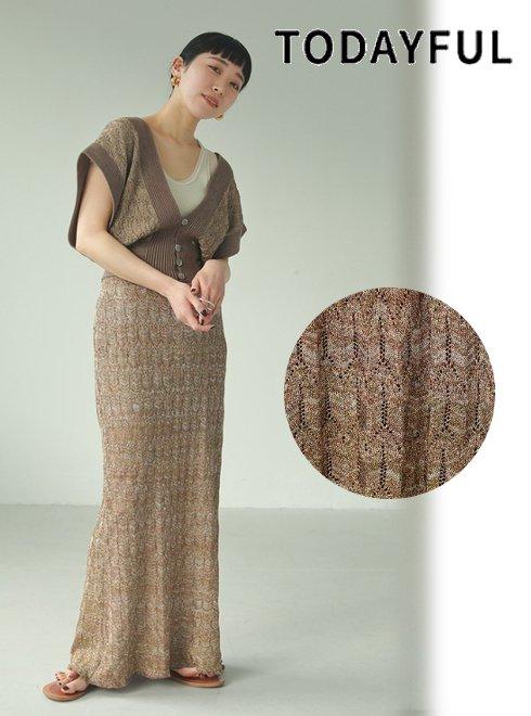 TODAYFUL (トゥデイフル)<br>'Lace Pencil Skirt'  21春夏.予約【12020804】ロング・マキシスカート 入荷予定 : 5月中旬〜6月中旬〜