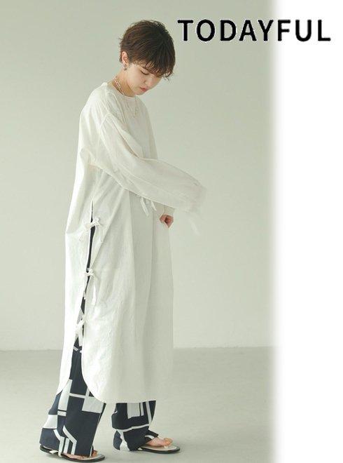 TODAYFUL (トゥデイフル)<br>Slit Surgical Dress  21春夏.【12110328】マキシワンピース  近日入荷