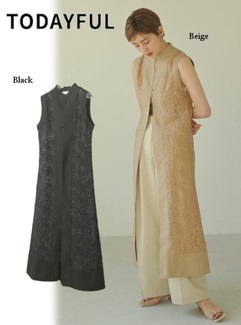 TODAYFUL (トゥデイフル)<br>Embroidery Mesh Dress  21春夏.予約【12110321】マキシワンピース 入荷予定 : 5月中旬〜