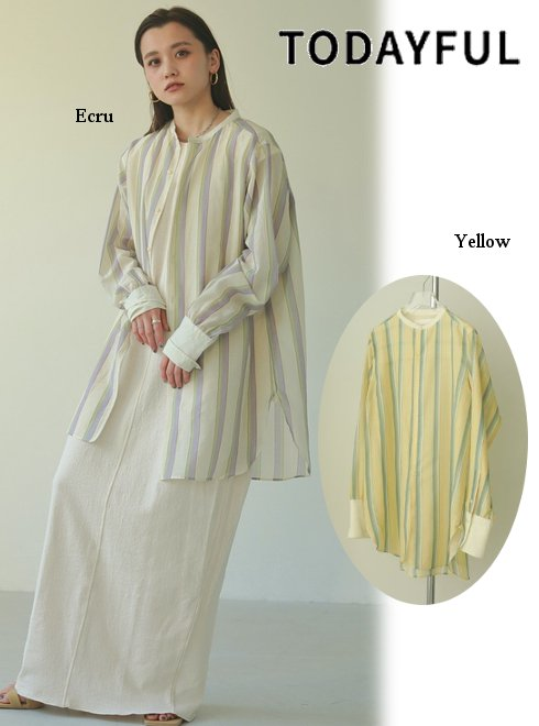 TODAYFUL (トゥデイフル)<br>Multistripe Silk Shirts  21春夏.予約【12110403】シャツ・ブラウス 入荷予定 : 5月中旬〜