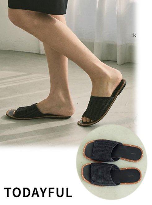 TODAYFUL (トゥデイフル)<br>Blade Slide Sandals  21春夏.予約【12111037】サンダル 入荷予定 : 5月中旬〜