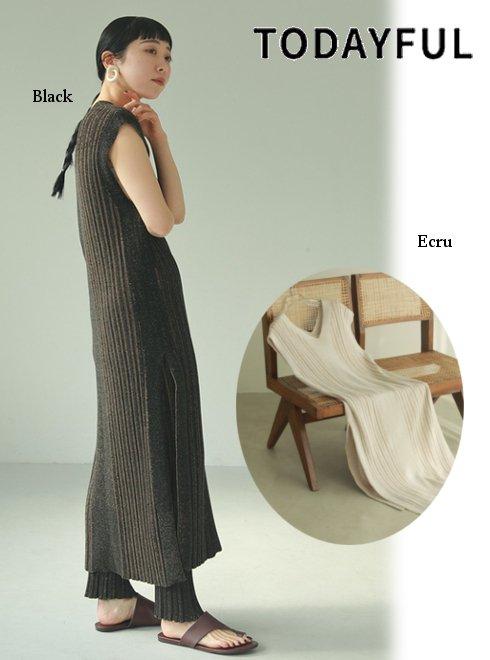 TODAYFUL (トゥデイフル)<br>Randomrib Knit Dress  21春夏.予約【12110320】マキシワンピース 入荷予定 : 5月中旬〜