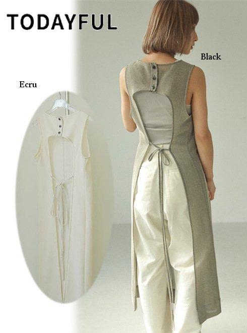 TODAYFUL (トゥデイフル)<br>Backopen Mesh Dress  21春夏.予約【12110333】マキシワンピース 入荷予定 : 5月中旬〜