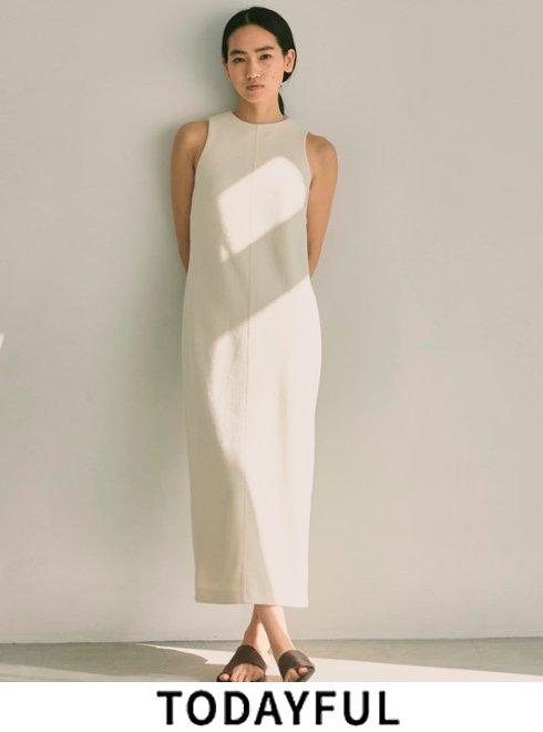 TODAYFUL (トゥデイフル)<br>Pencil Pile Dress  2021春夏.予約【12110323】マキシワンピース 入荷予定 : 5月中旬〜