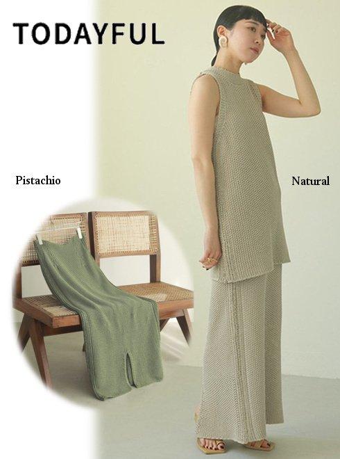 TODAYFUL (トゥデイフル)<br>Line Knit Skirt  21春夏.予約【12110804】ロング・マキシスカート 入荷予定 : 5月中旬〜