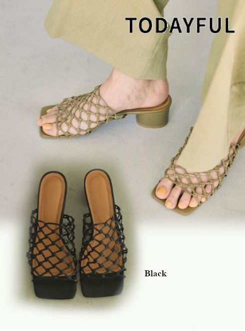 TODAYFUL (トゥデイフル)<br>Leather Mesh Sandals  21春夏.予約【12111052】サンダル 入荷予定 : 5月中旬〜