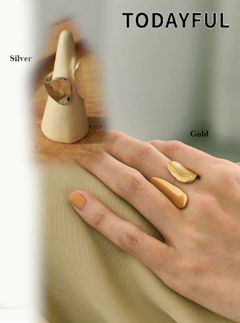 TODAYFUL (トゥデイフル)<br>Asymmetry Stand Ring(Silver925)  2021春夏.予約【12110942】リング 入荷予定 : 5月中旬〜