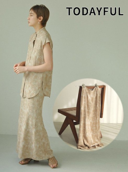 TODAYFUL (トゥデイフル)<br>Marble Pencil Skirt  21春夏.予約【12110806】タイトスカート 入荷予定 : 6月中旬〜