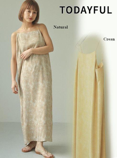 TODAYFUL (トゥデイフル)<br>Marble Camisole Dress  21春夏.予約【12110326】マキシワンピース 入荷予定 : 6月中旬〜