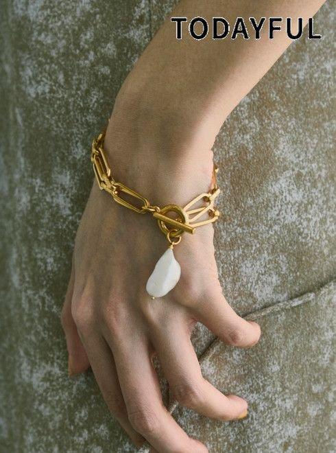 TODAYFUL (トゥデイフル)<br>Chain Pearl Bracelet  21春夏.予約【12110952】ブレスレット・アンクレット 入荷予定 : 6月中旬〜