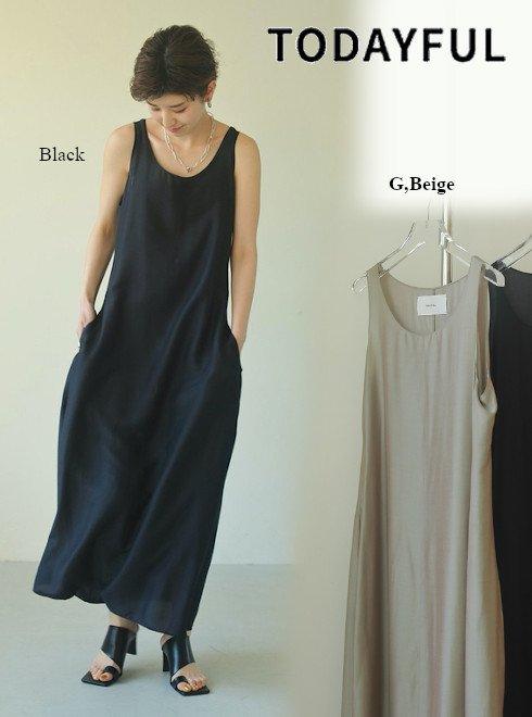 TODAYFUL (トゥデイフル)<br>Silk Balloon Dress  21春夏.予約【12110318】マキシワンピース 入荷予定 : 6月中旬〜