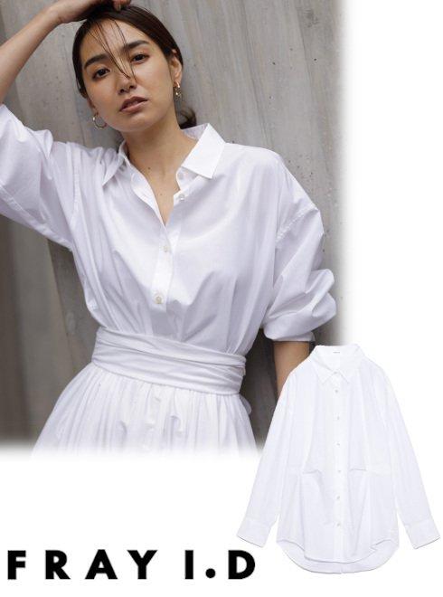FRAY I.D (フレイアイディー)<br>タックデザインカメリアシャツ  21春夏【FWFB211501】シャツ・ブラウス