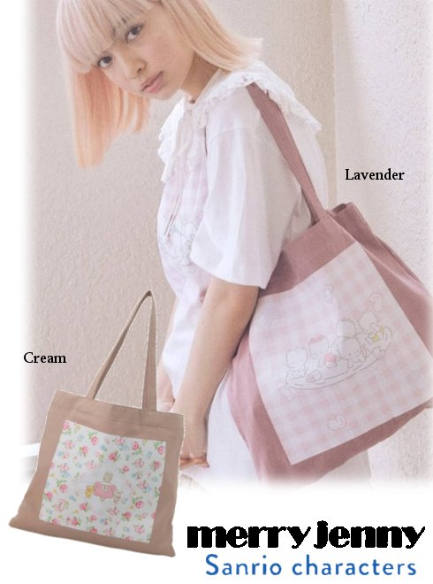 merry jenny (メリージェニー)<br>80's sanrio tote bag  21春夏.予約【282131906001】Sanrio トートバッグ 入荷予定 : 5月上旬〜