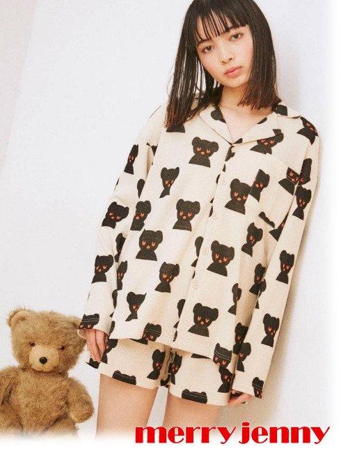 merry jenny (メリージェニー)<br>Black Bear room wear  21春夏.【282122703601】オールインワン・コンビネゾン  miffy