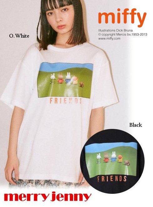 merry jenny (メリージェニー)<br>miffy FRIENDS Tシャツ  21春夏.【282122702001】Tシャツ