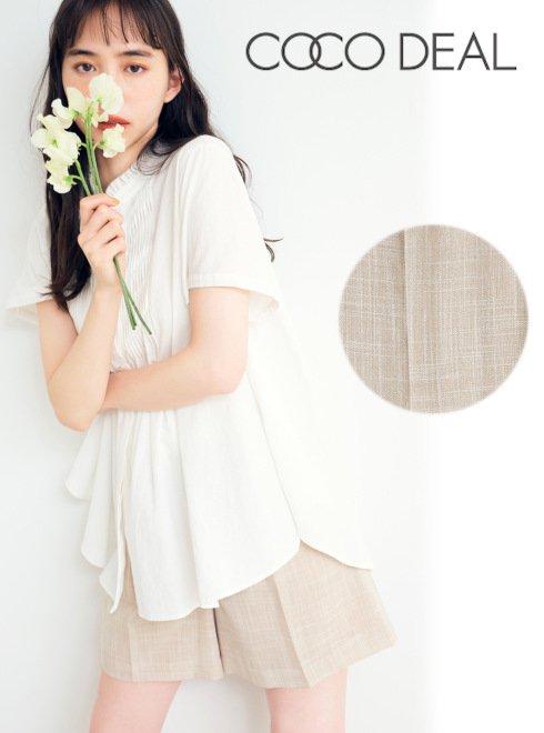 COCODEAL (ココディール)<br>麻ライクショートパンツ  21春夏.【71316375】ショートパンツ