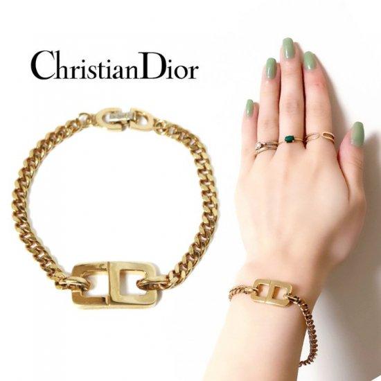 Dior ディオール ヴィンテージ<br>ロゴブレスレット【vintage by RiLish】ランクBA ブレスレット・アンクレット