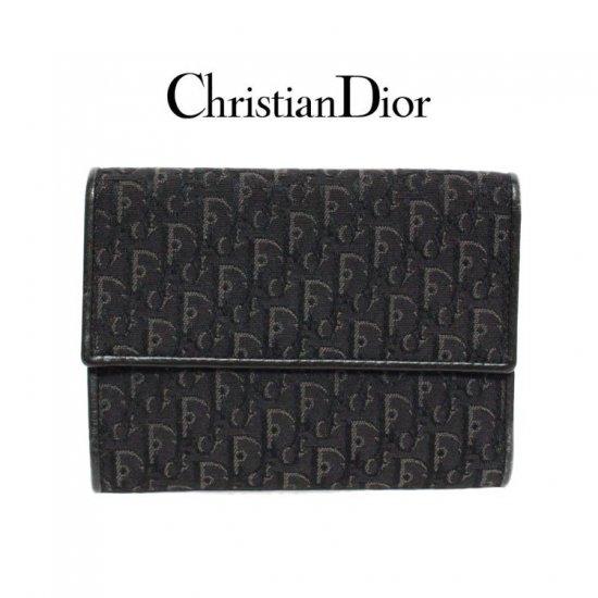 Dior ディオール ヴィンテージ<br>トロッター二つ折り 財布小物【vintage by RiLish】ランクAB 財布